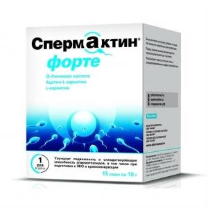 СпермАктин Форте пакетик 10г №15 (БАД)
