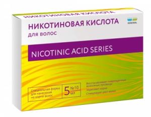 Никотиновая кислота для волос амп. 5мл. №10