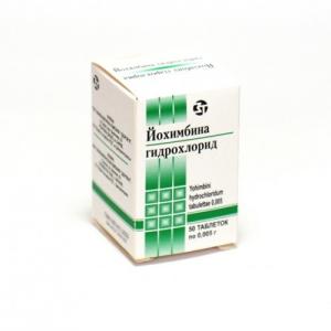 Йохимбина гидрохлорид табл. 5мг. №50