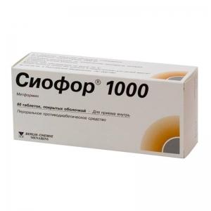 Сиофор табл.п.п.о. 1000мг. №60
