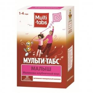 Мульти-табс Малыш табл.жев. №30 (малиново-клубничный вкус)