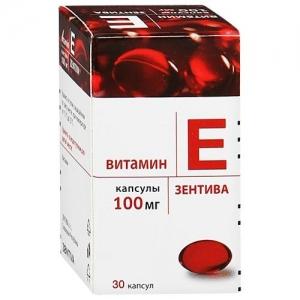 Витамин Е Зентива капс. 100мг. №30