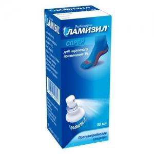 Ламизил спрей д/наруж. прим. 1% фл. 30мл.