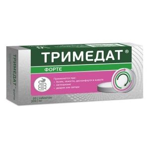 Тримедат форте табл.пролонг.дейст.300 мг. №20