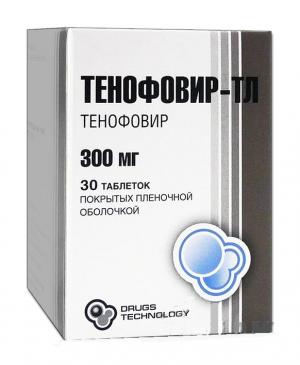 Тенофовир-ТЛ табл.п.п.о. 300мг №30