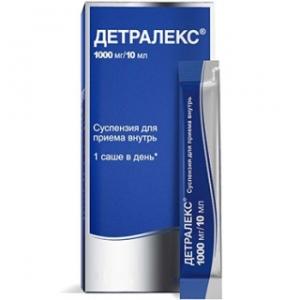 Детралекс сусп. для приема внутрь 1000мг/10мл 10 мл. №15