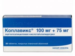 Коплавикс табл.п.о. 100мг.+75мг. №28