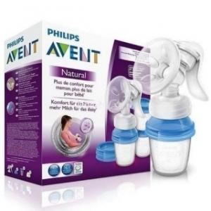 АВЕНТ (SCF330/13) Молокоотсос Натурал с контейнерами для хранения грудного молока (86540)