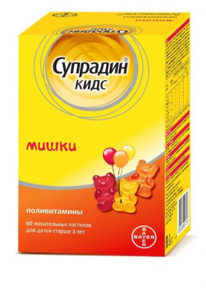Супрадин Кидс Мишки пастилки жев. 4г №60 (БАД)