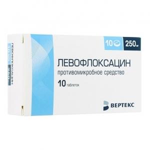 Левофлоксацин-Вертекс табл.п.о. 250мг. №10