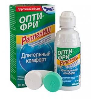 Раствор Опти-Фри Реплениш для контактных линз фл. 90мл., с контейнером