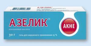Азелик гель д/наруж. прим. 15% туба 30г