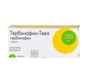 Тербинафин-Тева табл. 250мг. №28