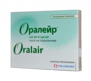 Аллерген Оралейр трав (начальный этап) табл. подъязычные №31