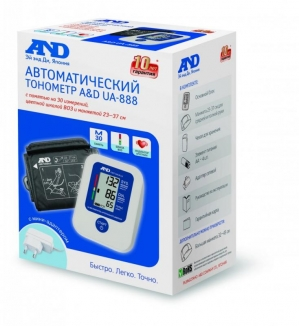 Тонометр AND UA-888 автомат + адаптер (23-37см)