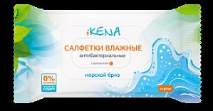 Салфетки влажные Икена антибактериальные морской бриз №15 (Асна)