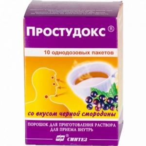 Простудокс пор. д/приг. р-ра д/приема внутрь пак. 5г №10 , со вкусом черн.смородины