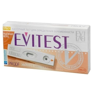 Тест Эвитест Пруф для определения беременности кассетный №1