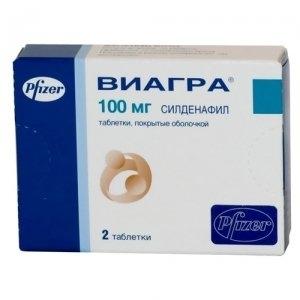 Виагра табл.п.п.о. 100мг. №2