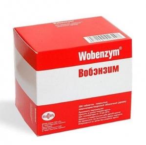 Вобэнзим табл.п.о. кишечнораств. №200