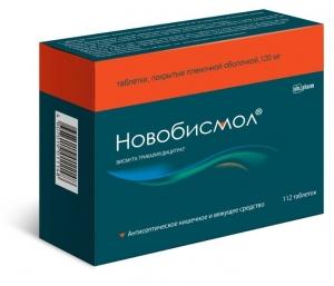 Новобисмол-OBL табл.п.п.о. 120мг. №112