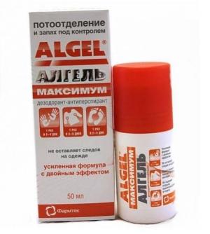 Алгель дезодорант-антиперспирант Максимум фл. 50мл.