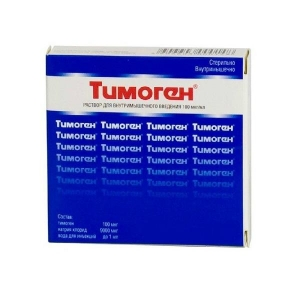 Тимоген р-р для в/м введ. 100мкг/мл амп. 1мл. №10