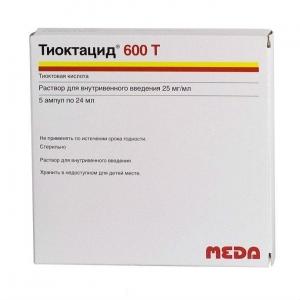 Тиоктацид 600 Т р-р д/ин. 25мг./1мл. амп. 24мл. №5
