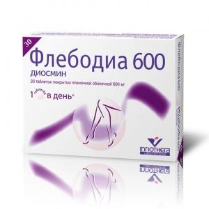 Флебодиа табл.п.п.о. 600 мг. №30