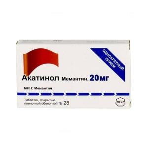Акатинол Мемантин табл.п.п.о. 20мг. №28