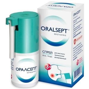 Оралсепт спрей д/мест. прим. дозир. 0,255 мг/доза конт. пласт. 30мл. (176 доз)