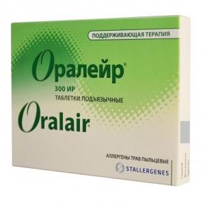 Аллерген Оралейр трав (поддерживающий курс) табл. подъязычные №90