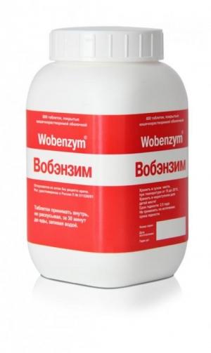 Вобэнзим табл.п.о. кишечнораств. №800