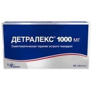 Детралекс табл.п.п.о. 1000мг. №18