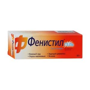 Фенистил гель для наружного применения 0.1% туба 50 г