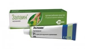 Залаин крем д/наруж. прим. 2% туба 20г