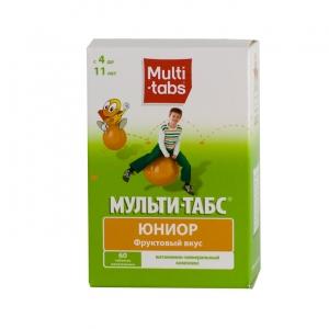 Мульти-табс Юниор табл.жев. №60 (фруктовый вкус)