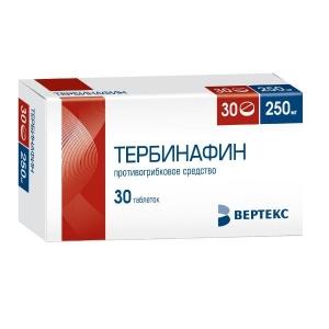 Тербинафин-Вертекс табл. 250мг. №30