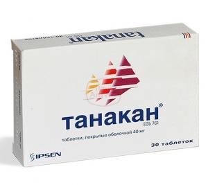 Танакан табл.п.п.о. 40мг. №30