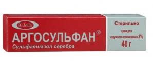Аргосульфан крем д/наруж. прим. 2% туба 40г
