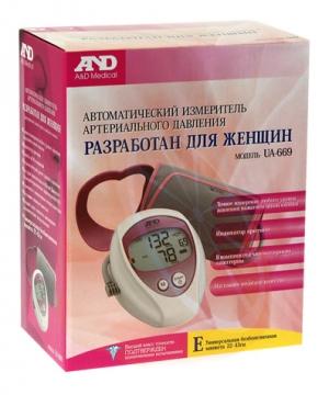 Тонометр AND UA-669 автомат для женщин +адаптер (манжета 22-43)