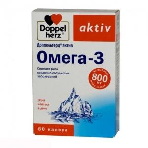 Доппельгерц Актив Омега-3 капс. №80 (БАД)