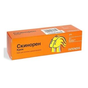 Скинорен крем д/наруж. прим. 20% туба 30г