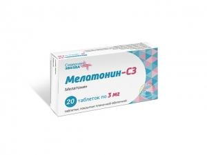 Мелатонин СЗ таб.п.п.о. 3мг. №20 (Асна)