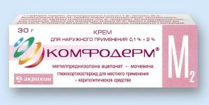 Комфодерм М2 крем д/наруж. прим. туба 0,1% 30г