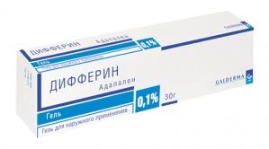 Дифферин гель д/наруж. прим. 0,1% туба 30г