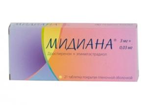 Мидиана табл.п.п.о. 3мг.+ 0,03 мг №21