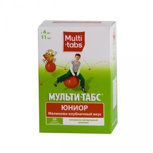 Мульти-табс Юниор табл.жев. №60 (малиново-клубничный вкус)