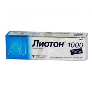 Лиотон 1000 гель д/наруж. прим. туба 100г