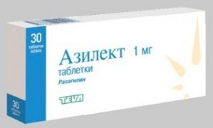 Азилект табл. 1мг. №30